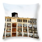 The Electric Factory Throw Pillow