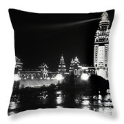 The Electric Tower Pan American Exposition Buffalo New York 1901 Throw Pillow
