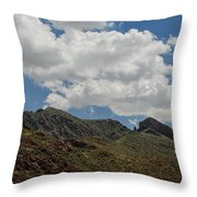 The Elephant Above El Paso Throw Pillow
