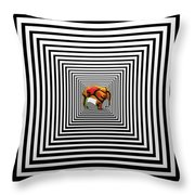 The Elephant In The Room Throw Pillow