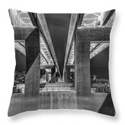 The Elevated Freeway Throw Pillow
