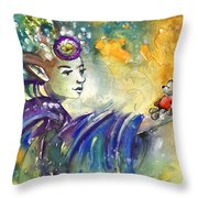 The Elf And The Little Bear Throw Pillow