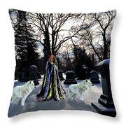 The Elf Queen Throw Pillow