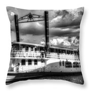 The Elizabethan Paddle Steamer Throw Pillow