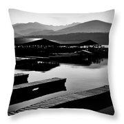 The Elkins Marina On Priest Lake Idaho Throw Pillow