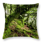 The Elven Forest No2 Wide Throw Pillow