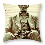 The  Emancipation Proclamation And Abraham Lincoln Throw Pillow