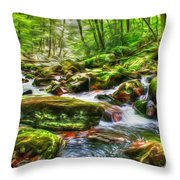 The Emerald Forest 15 Throw Pillow