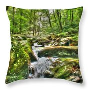 The Emerald Forest 3 Throw Pillow