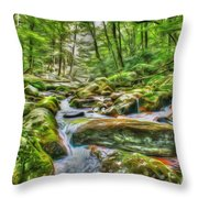 The Emerald Forest 4 Throw Pillow