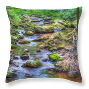 The Emerald Forest 6 Throw Pillow