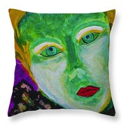 The Emerald Lady Throw Pillow