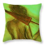 The Emerald Stroll Throw Pillow