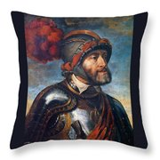 The Emperor Charles V Throw Pillow