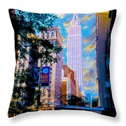 The Empire State Building Throw Pillow by Jon Neidert