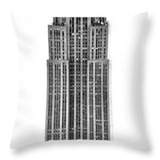 The Empire State Building Throw Pillow by Luciano Mortula