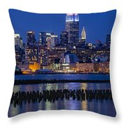 The Empire State Building Pastels Esb Throw Pillow