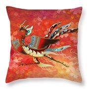 The Empress - Flight Of Phoenix - Red Version Throw Pillow