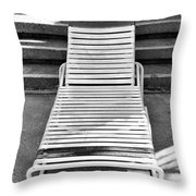 The Empty Chaise Palm Springs Throw Pillow