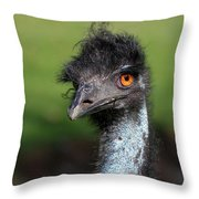 The Emu Throw Pillow