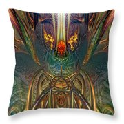 The Enchanted Candle Light Fire Fx  Throw Pillow