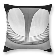 The Encounter Restaurant At Lax From Below Los Angeles International Airport. Throw Pillow