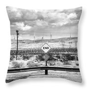 The End Bw Throw Pillow