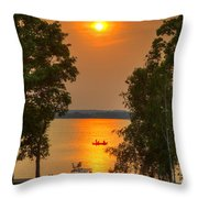 The End Of A Perfect Day Throw Pillow