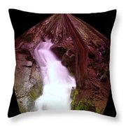 The End Of Silver Falls  Throw Pillow