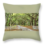 The End Of The Alley Throw Pillow