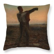 The End Of The Day Effect Of Evening  Throw Pillow