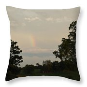 The End Of The Rainbow Throw Pillow