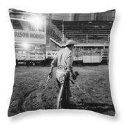The End Of The Rodeo Throw Pillow