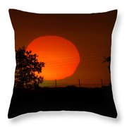 The End To A Hot Day Throw Pillow