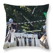 The End To The Jousting Contest  Throw Pillow