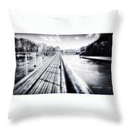 The Endless Bridge Throw Pillow