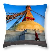 The Endless Search For Eternity Throw Pillow
