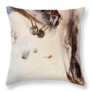 The Enemy Crashed To The Earth Throw Pillow