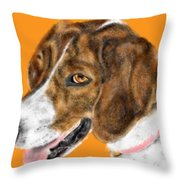 The English Pointer Foxhound Throw Pillow