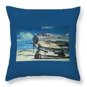 The Enola Gay Resting At Tinian Throw Pillow