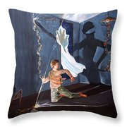 The Entity Of Fear Throw Pillow