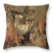 The Entombment Of Christ Throw Pillow by Barocci