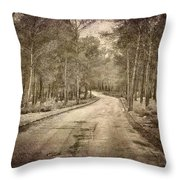 The Entrance Of The Great Forest Throw Pillow