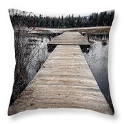 Pier Hamilton Marsh  Throw Pillow