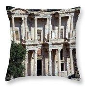 The Ephesus Library In Turkey Throw Pillow