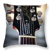 The Epiphone Les Paul Guitar Throw Pillow