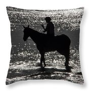 The Equestrian-silhouette Throw Pillow