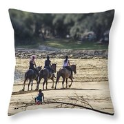 The Equestrians   Throw Pillow
