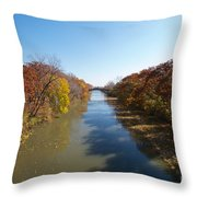 The Erie Canal Throw Pillow