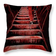 The Escalator Throw Pillow